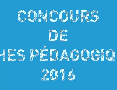 CONCOURS DE FICHES PÉDAGOGIQUES 2016