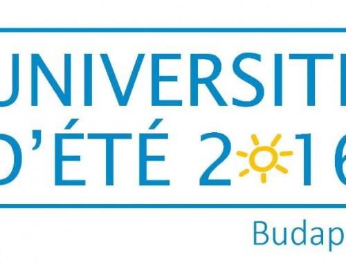 Université d'été 2016 : ouverture des inscriptions en ligne